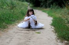 Free Adorable Toddler Girl With Very Long Dark Hair Stock Photography - 15775512