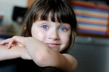 Free Nice Toddler Girl With Blue Eyes Stock Images - 15775514