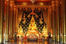 Free Buddha Image In A Temple Royalty Free Stock Photography - 15775667