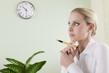 Free Pensive Businesswoman Stock Photography - 15775892