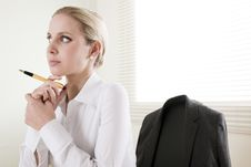Free Pensive Businesswoman Stock Photography - 15775912