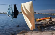 Free Drying Line Royalty Free Stock Images - 15775929