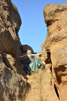Free Blond Woman In The Ravine Stock Image - 15776061