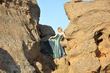 Free Blond Woman In The Ravine Royalty Free Stock Photos - 15776128