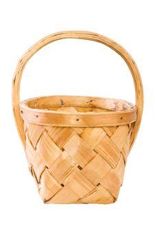 Basket  From Birch Bark Stock Photography