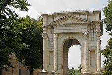 Verona, Arco Dei Gavi, Roman Building Royalty Free Stock Photo