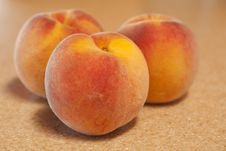 Free Three Peaches Stock Image - 15777451
