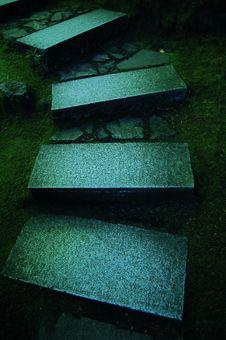Free Stone Steps In Japanese Garden Stock Image - 15777631