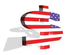 Free American Dollar Flag Stock Photos - 15777833