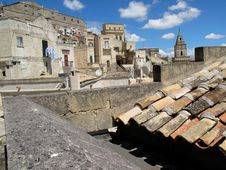 Matera Roof Royalty Free Stock Images