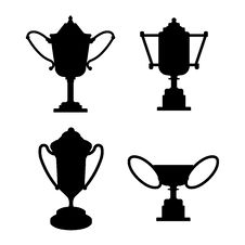 Collection Of Trophies Cups Royalty Free Stock Image