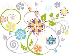 Free Flowers Ornament Royalty Free Stock Photos - 15778458