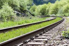 Free Mountain Train Tracks Royalty Free Stock Images - 15779029