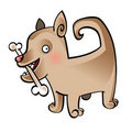 Free Dog With Bone Royalty Free Stock Images - 15787699