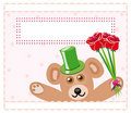 Free Teddy Bear With Roses Royalty Free Stock Images - 15789099