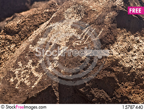Ancient Indian Petroglyph Stock Photo