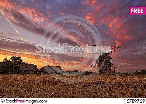 Village at dawn Stock Photo