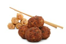 Meatballs And Spring Roll Royalty Free Stock Photos