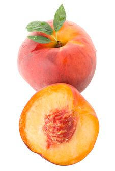 Free Peach With Leaves Stock Photos - 15780163