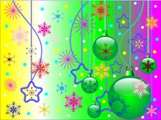 Free Christmas Composition With Spheres And Stars Royalty Free Stock Photos - 15780598