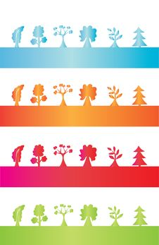 Free Abstract Tree Silhouettes Stock Image - 15780891