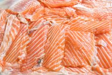 Free Fresh Sliced Salmon Fillet Stock Images - 15781174