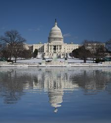 Free Capitol Hill With Reflection Stock Photo - 15781280
