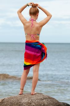 Free Woman On The Beach Royalty Free Stock Photo - 15781525