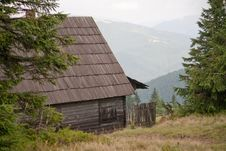 House In The Carpathian Mountains Stock Photos