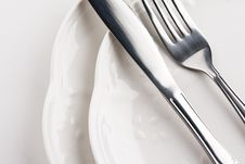 Free Plates,knife And Fork Stock Photo - 15781950