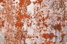Free Oxidized Metal Sheet Covered With Old Paint. Royalty Free Stock Photography - 15782047