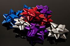 Free Gift Bows Colored Stock Image - 15782051