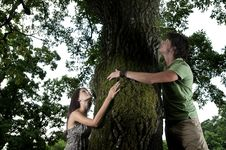 Free Tree Hugging Royalty Free Stock Photography - 15782197