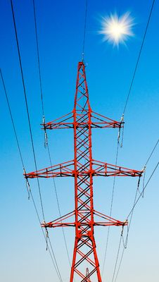 Free Blue Sky And Electrical Pylon. Royalty Free Stock Image - 15782206