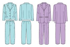 Free Suit With Jacket And Pants For Women Stock Images - 15782814