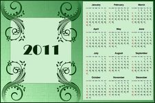 Free Calendar 2011 Stock Photography - 15784382