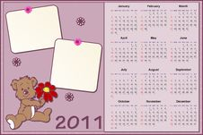 Free Baby S Calendar For 2011 Stock Photography - 15785062