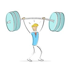 Free Man Doing Weight Lifting Stock Photography - 15785832
