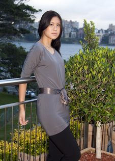Free Young Asian Woman Standing Outdoors Stock Photos - 15785883