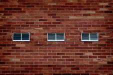 Free Old Brick Wall With Vents Royalty Free Stock Photo - 15786035