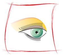 Free Eye Makeup. Stock Image - 15787921
