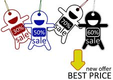 Best Price Sale Poster Royalty Free Stock Images