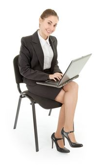 Free Woman And Laptop Royalty Free Stock Photos - 15788208