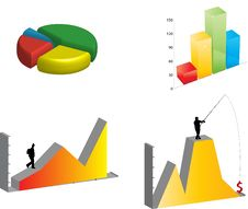 Free Several 3D Graphs Stock Image - 15788391