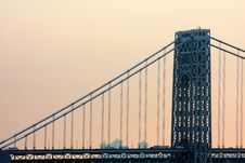 Free Washington Bridge View Royalty Free Stock Photography - 15789957