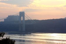 Free Washington Bridge View Royalty Free Stock Image - 15789976