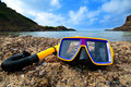 Free Snorkeling On The Beach Royalty Free Stock Photography - 15791487