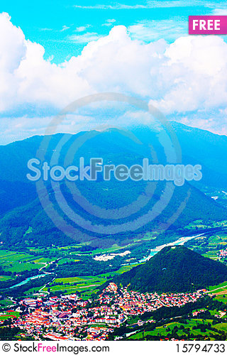 Amazing ladnscape of the Alps Stock Photo