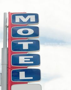 Free Motel Road Sign With Sky Stock Photography - 15791242