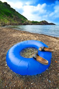 Free Buoy Blue Sea Beach Royalty Free Stock Photos - 15791538